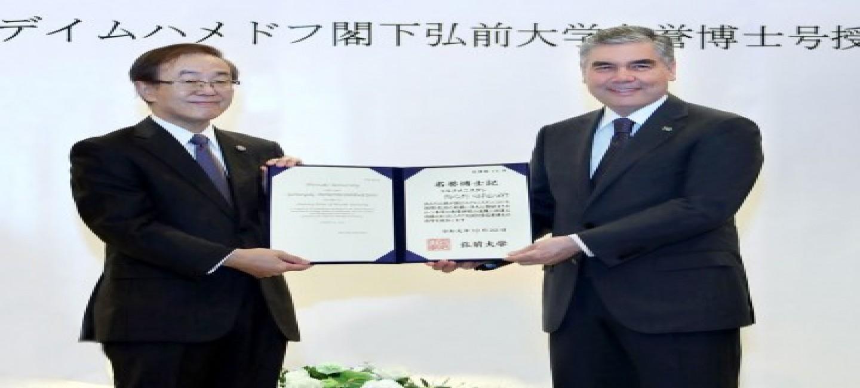 President Gurbanguly Berdimuhamedov becomes Honorary Doctor of the University of Hirosaki