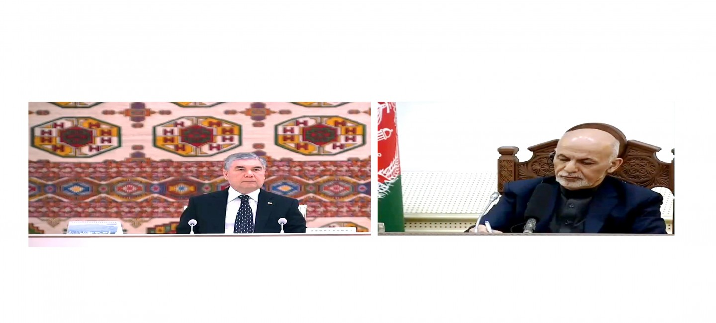 Presidents of Turkmenistan and Afghanistan took part in the commissioning of a number of joint infrastructures