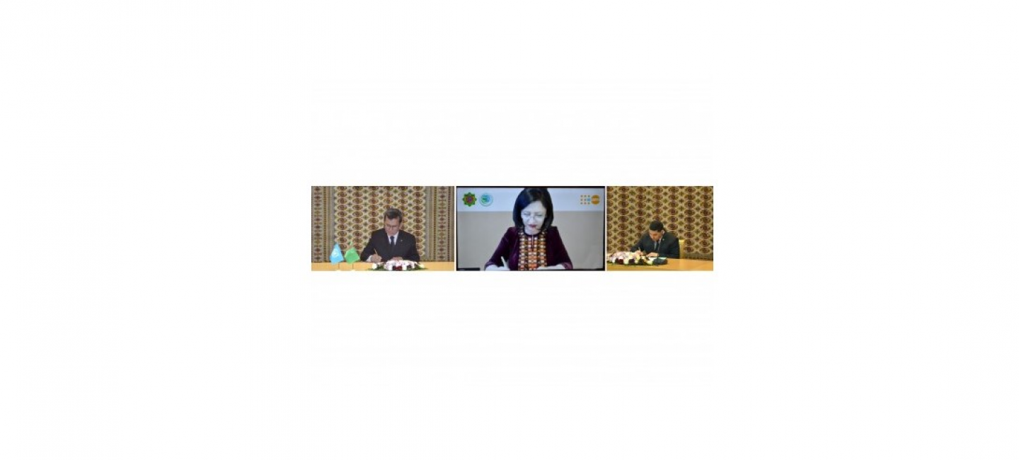 "A number of bilateral document were signed within the framework of the International Conference ""Turkmenistan and the United Nations: Cooperation for Peace and Trust"""