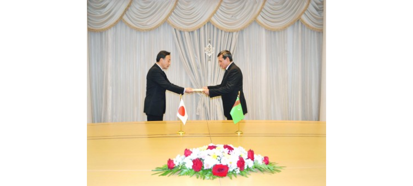 The meeting with the Ambassador of Japan was held at the Ministry of Foreign Affairs of Turkmenistan